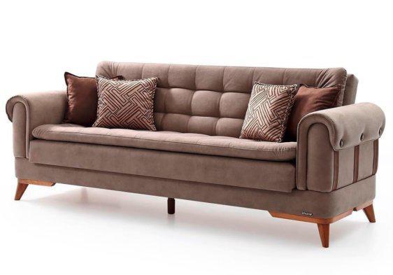 Καναπές Κρεβάτι με Καπιτονέ Επίστρωμα Φ-105069