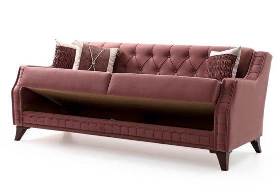 Καναπές- Κρεβάτι Vintage Σε Απόχρωση Σάπιο Μήλο  Φ-105072