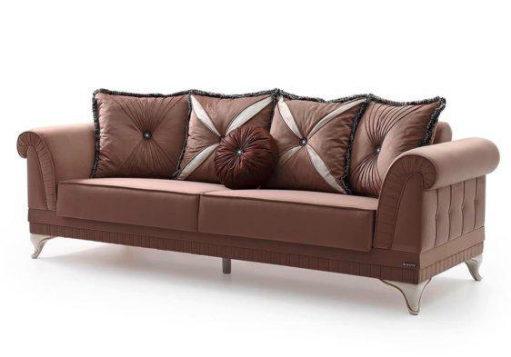 """Καναπές - Κρεβάτι Κλασικός με Λευκά Ποδαρικά """"Πήγασος"""" Φ-105077"""