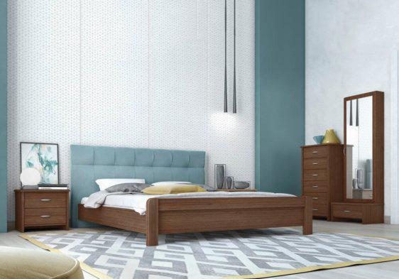 Ξύλινο Ελληνικό Κρεβάτι με Περίτεχνο Κεφαλάρι Ν54 S-050503