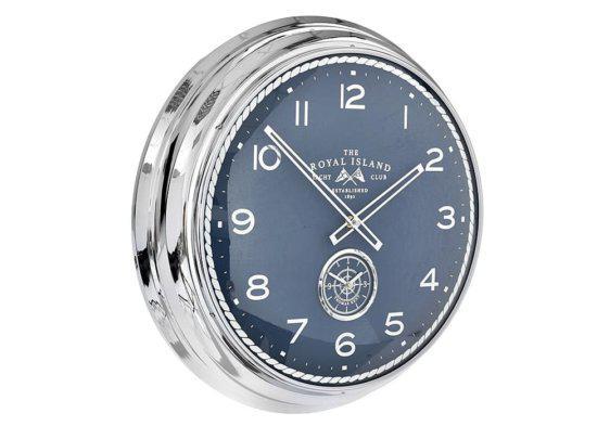 Μεταλλικό Ρολόι Τοίχου με Ναυτικό Θέμα Φ51 Η-147626