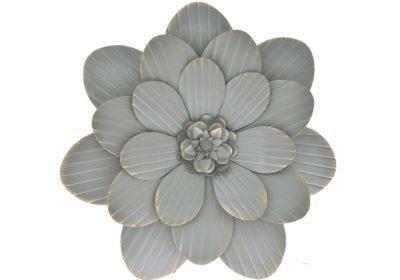 Διακοσμητικό Μεταλλικό Λουλούδι Ροζ, Γκρι ή Λευκό Η-146003