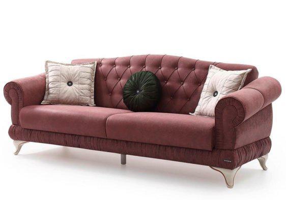 """Τριθέσιος Καναπές Κρεβάτι Νεοκλασικός """"Elizabeth"""" Φ-100106"""