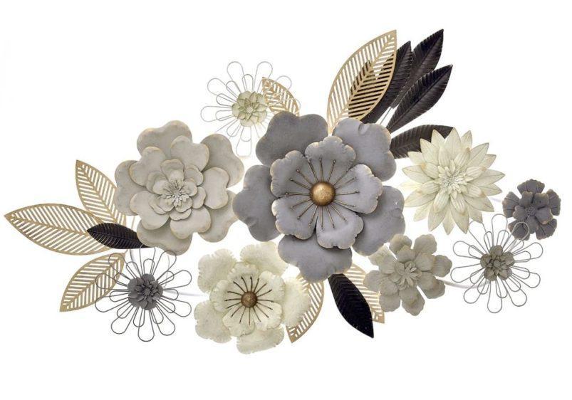 Μεταλλικά Διακοσμητικά Λουλούδια Τοίχου Η-146000