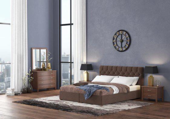 Υφασμάτινο Κρεβάτι με Αποθηκευτικό Χώρο σε Πολλά Χρώματα S-050506