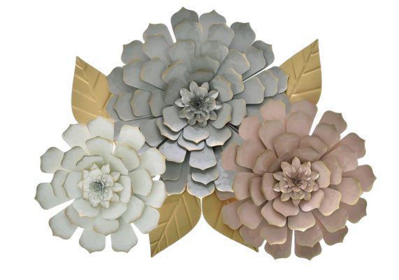Vintage Μεταλλικά Λουλούδια Τοίχου Η-146002