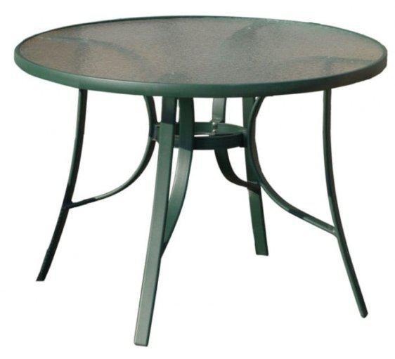 Τραπέζι Γυάλινο Κήπου Στρογγυλό Εξωτερικού Χώρου 106413