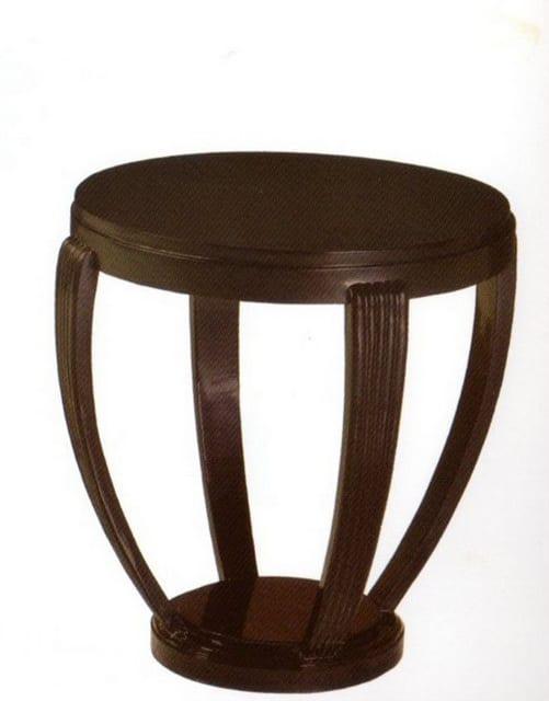 Τραπέζι ροτόντα απο ξύλο μαόνι σίσαμ J-145028