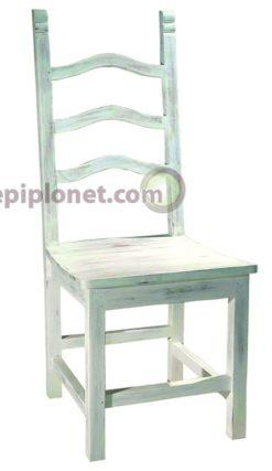 Καρέκλα από μαόνι σε λευκή πατίνα  J-143502
