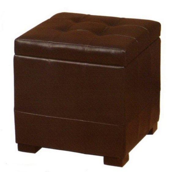 Σκαμπό με δέρμα ανοιχτό καφέ JPJ0077