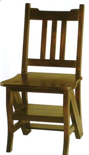 Καρέκλα από Μασίφ Μαόνι Φουρνιστό J-135024
