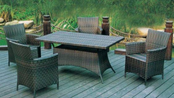 Τραπέζι Αλουμινίου Εξωτερικού Χώρου από Wicker Sar-106743