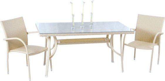 Τραπέζι Εξωτερικού Χώρου από Wicker Εκρού Sar-106766