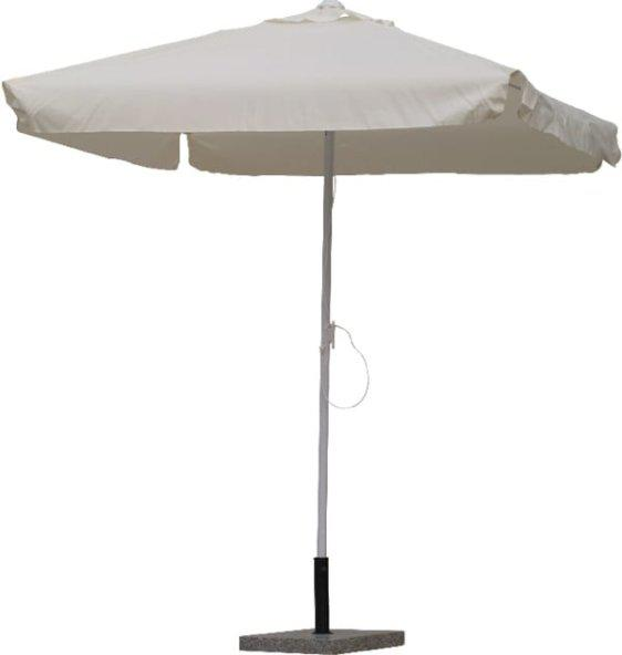 Ομπρέλα Βεράντας-Κήπου Αλουμινίου Λευκή Τετράγωνη Sar-106870