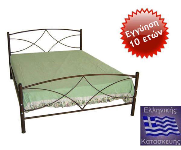 Κρεβάτι Μεταλλικό διπλό με στρώμα Άνδρος