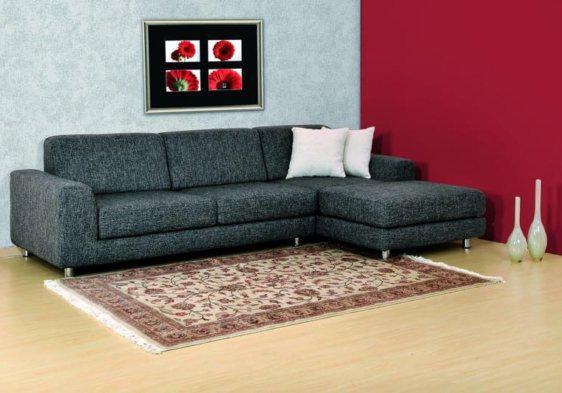 Σαλόνι γωνία υφασμάτινη με inox πόδι Palmie-100028